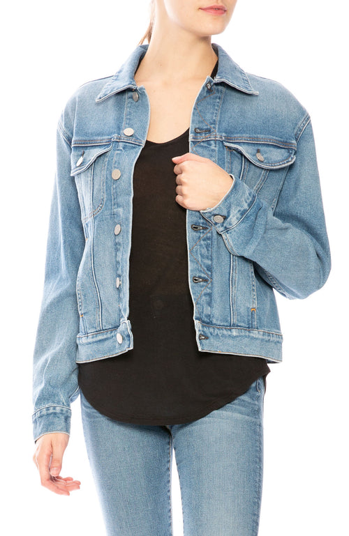 CQY Harper Denim Jacket in Archive at Ron Herman