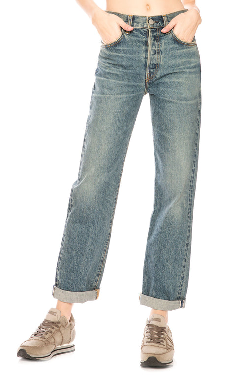 CQY Vinyl Relaxed Jean in Charming at Ron Herman