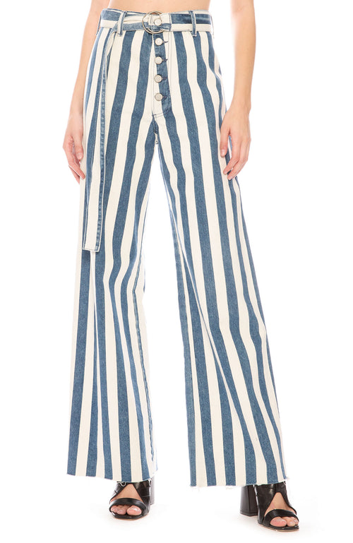 Boyish Charley Wide Leg Striped Jeans at Ron Herman