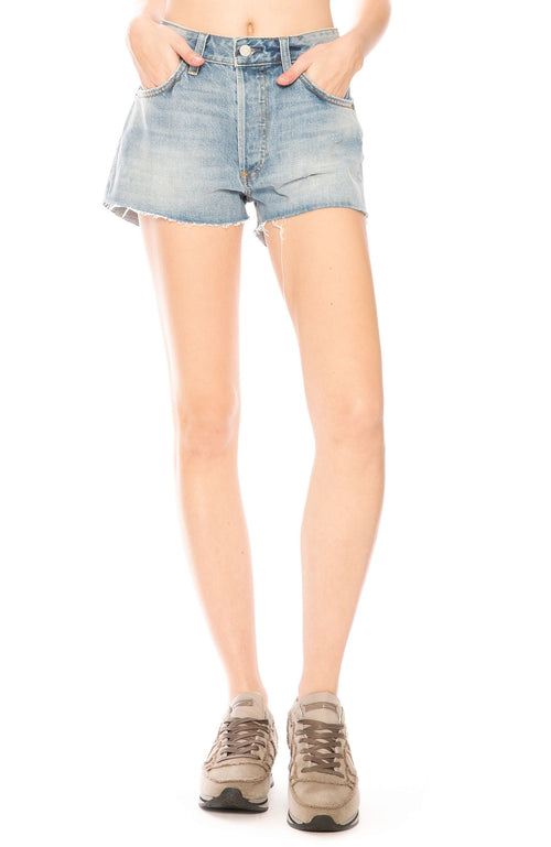 Boyish Cody High Rise Cut Off Shorts in The Birds wash at Ron Herman