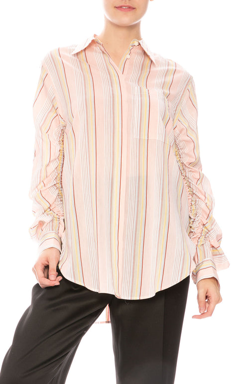 3.1 Phillip Lim Gathered Sleeve Button Down Shirt at Ron Herman