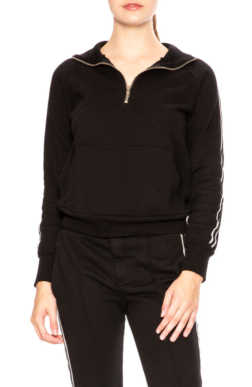 NSF Camilla Black Pullover Athletic Sweatshirt at Ron Herman