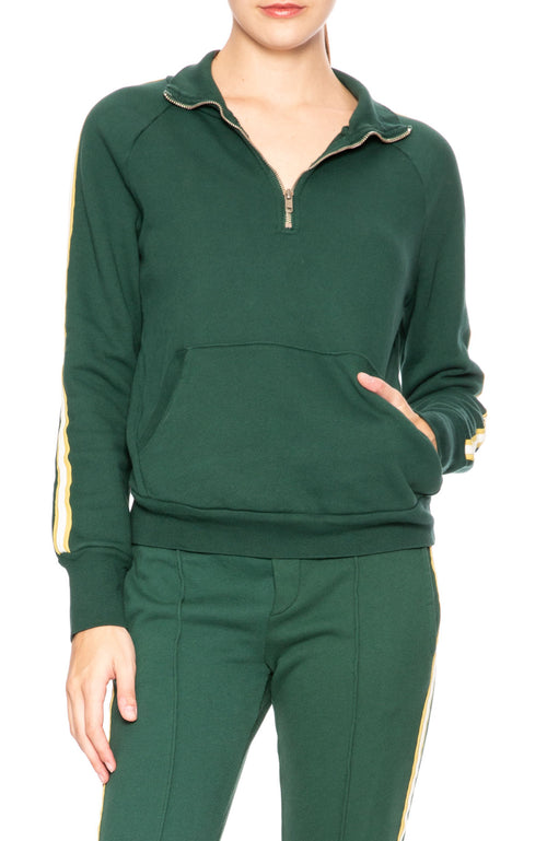 NSF Camilla Deep Greenery Pullover Athletic Sweatshirt at Ron Herman