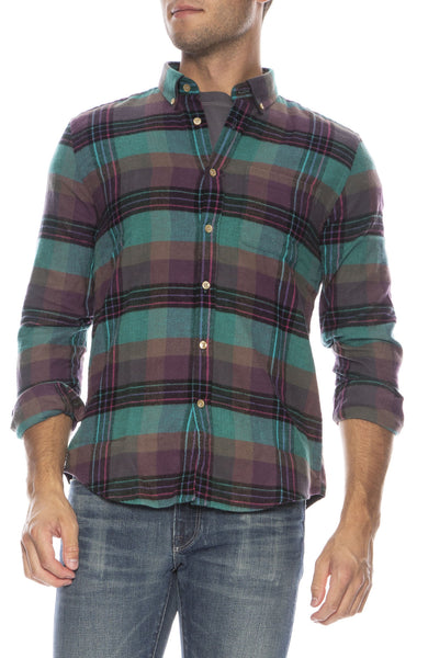 Checker Flannel Button Down