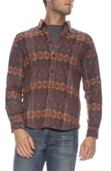 Azteca Printed Button Down Shirt