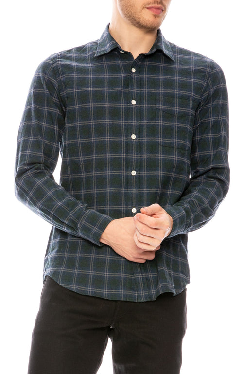 Hartford Storm Slim Flannel Shirt at Ron Herman