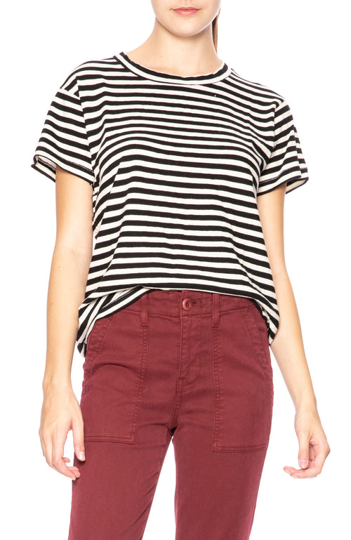 The Great Slim Stripe Tee in Black Stripe at Ron Herman