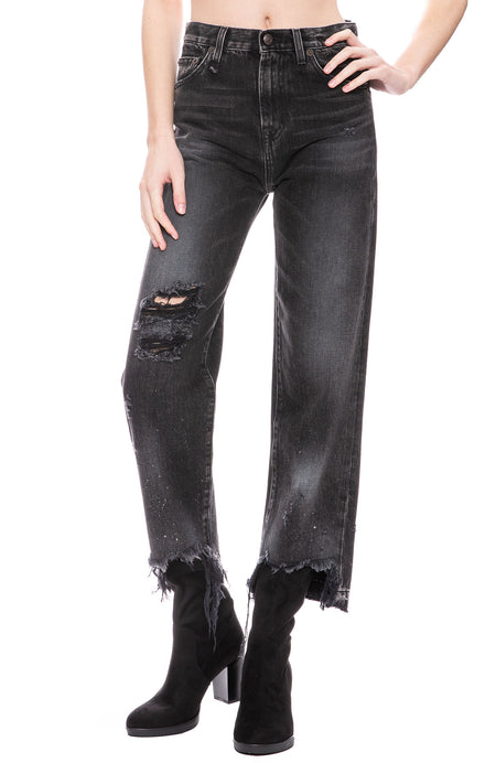 Camille High Rise Jean in Ashford Black