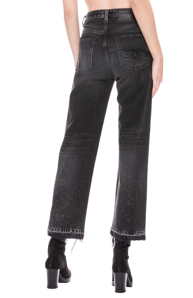 R13 Camille High Rise Jean in Ashford Black at Ron Herman