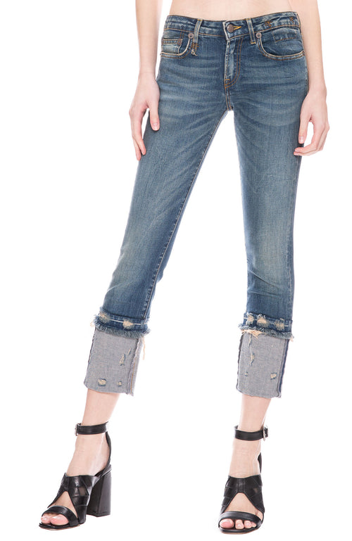 R13 Kate Skinny Cuff Jean in Kinsley at Ron Herman