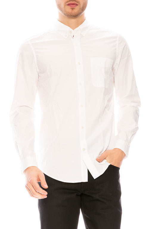 Harmony Celestin Poplin Shirt in White at Ron Herman