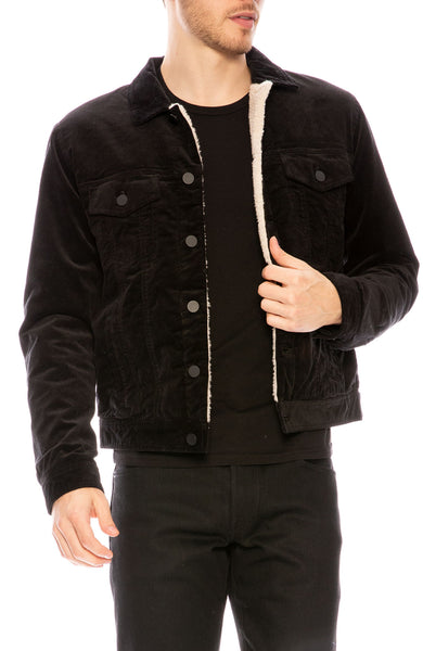 ATM Sherpa Lined Corduroy Jacket at Ron Herman