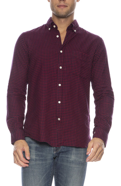 Side Checker Button Down Shirt
