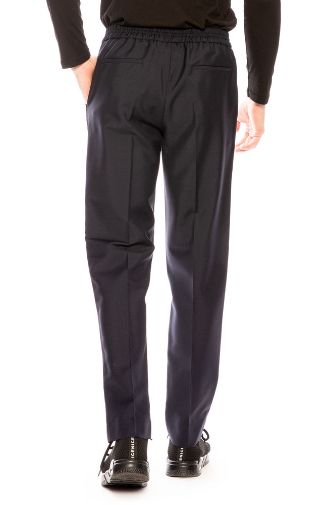 Harmony Paolo Wool Blend Trouser Pants in Navy at Ron Herman