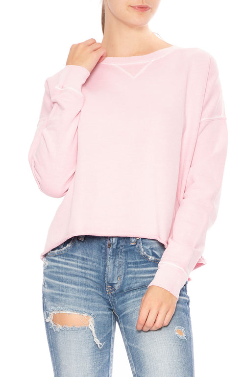 AMO Cut Off Sweatshirt in Faded Pink at Ron Herman