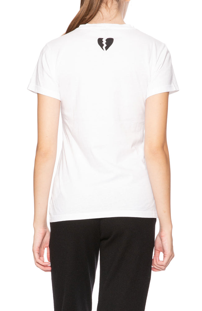 Bella Freud Love Is The Drug Tee in White at Ron Herman