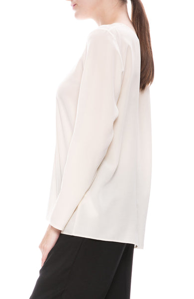 Forte Forte Crepe de Chines Shirt in Naturale