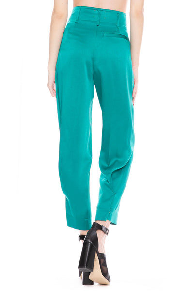 Forte Forte Satin Crepe Pants in Peacock