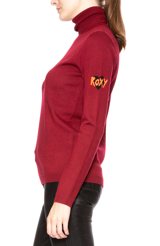 Bella Freud Love is the Drug Turtle Neck in Claret at Ron Herman