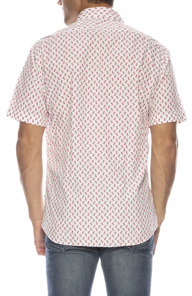 Exclusive Pineapple Print Short Sleeve Shirt