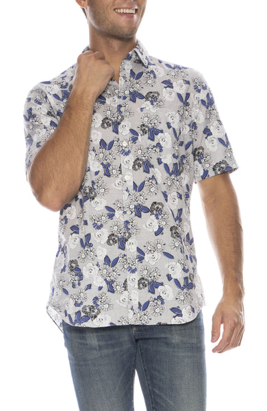 Exclusive Mussola Big Floral Short Sleeve Shirt