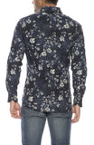 Exclusive Floral Print Corduroy Shirt