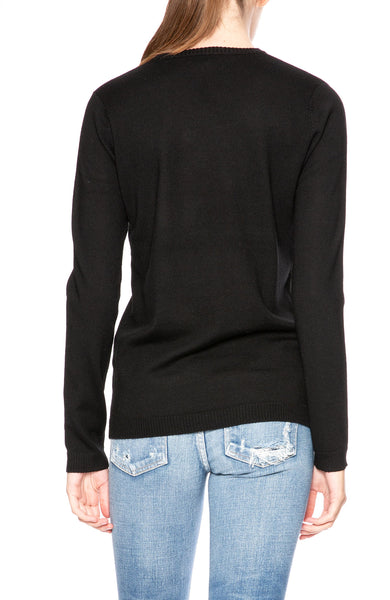 Bella Freud 1970 Jumper Sweater in Black at Ron Herman