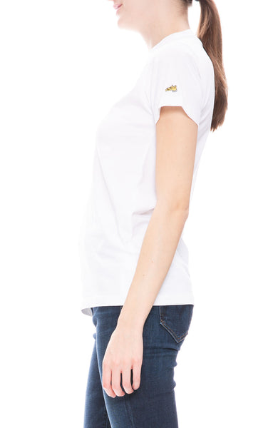Bella Freud Dog Logo T-Shirt in White at Ron Herman