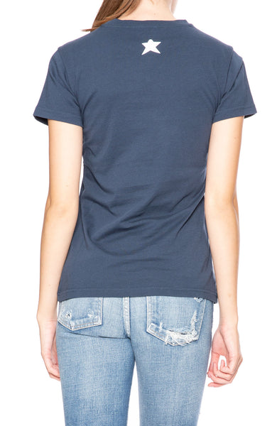 Bella Freud Dog T-Shirt in Navy at Ron Herman