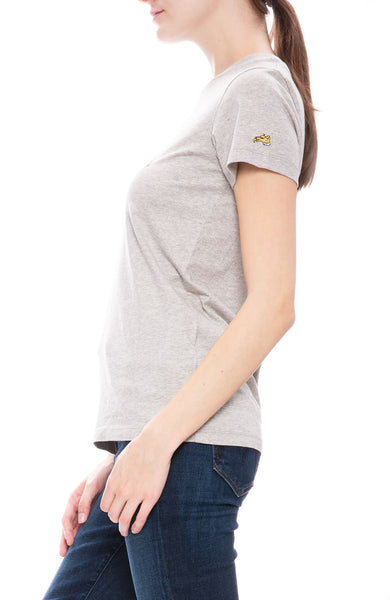 Bella Freud Dog Logo T-Shirt in Grey Marl at Ron Herman