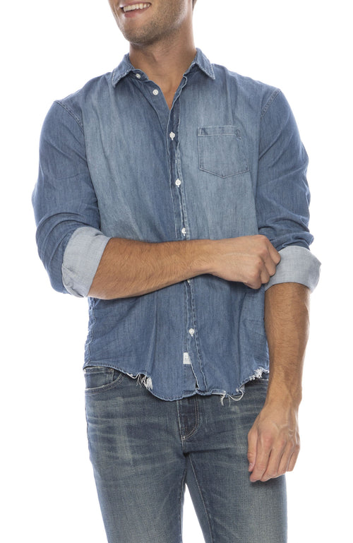 Luke Distressed Denim Shirt