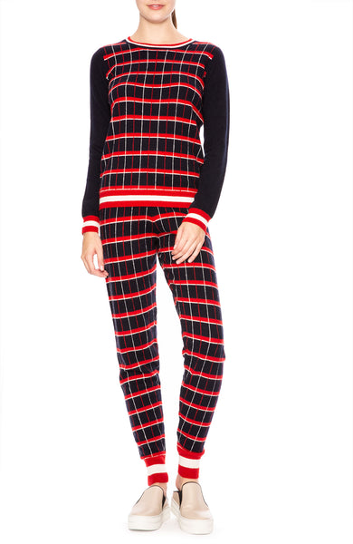 Madeleine Thompson Cashmere Kessel Plaid Sweatpant at Ron Herman