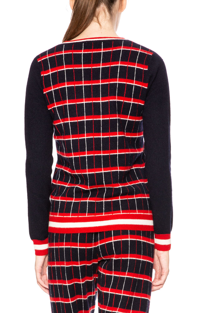 Madeleine Thompson Telesto Plaid Sweater at Ron Herman