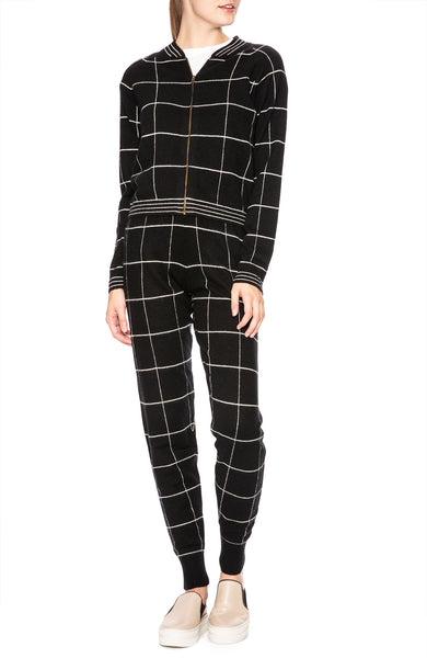 Madeleine Thompson Cashmere Eris Check Sweatpant at Ron Herman
