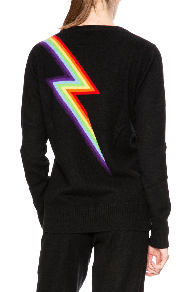 Madeleine Thompson Rainbow Bolt Sweater at Ron Herman