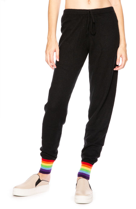 Cashmere Rainbow Cuff Sweatpants