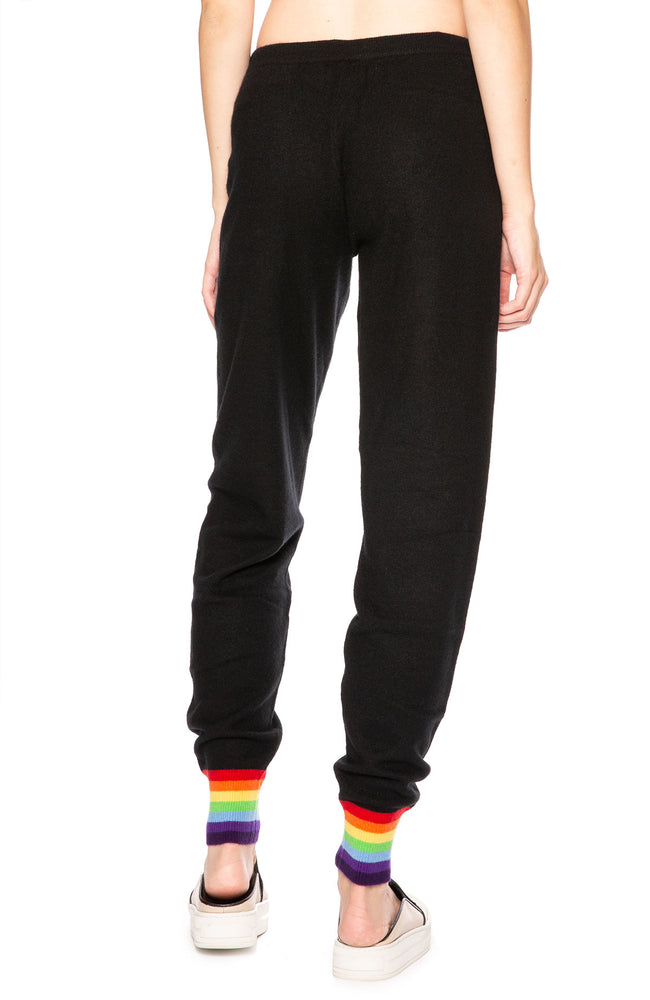 Madeleine Thompson Rainbow Cuff Sweatpants at Ron Herman