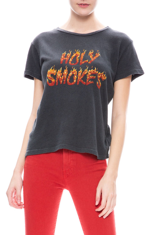 Mother Sinful Holy Smokes Tee in Faded Black