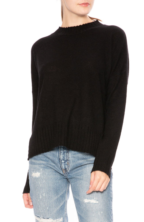 Ron Herman Exclusive Mock Neck Cashmere Sweater in Black