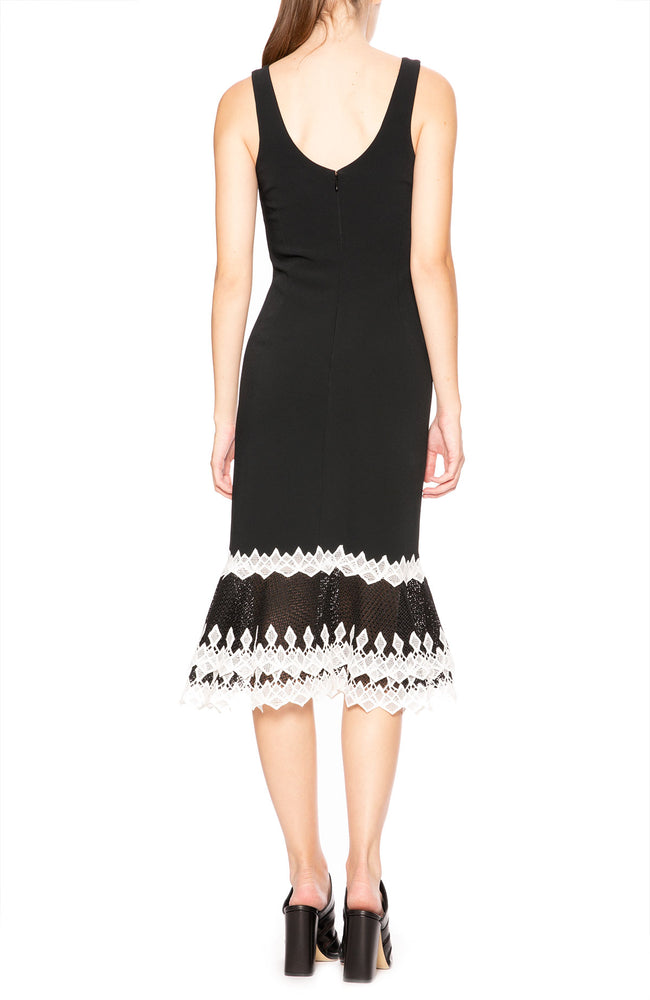 Jonathan Simkhai Diamond Applique Peplum Dress at Ron Herman