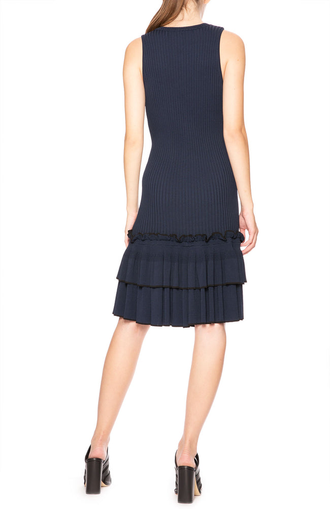 Jonathan Simkhai Ribbed Tank Dress with Tiered Bottom at Ron Herman