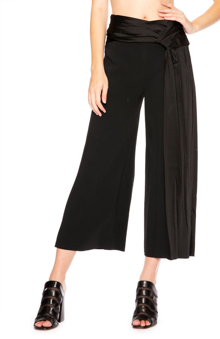Fluid Satin Wrap Pant