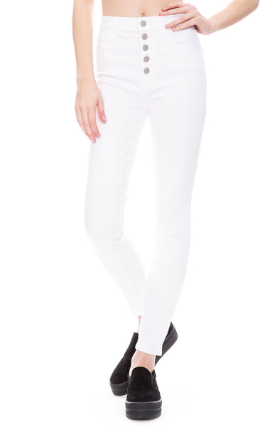 J Brand  Lillie High-Rise Skinny in HD White at Ron Herman