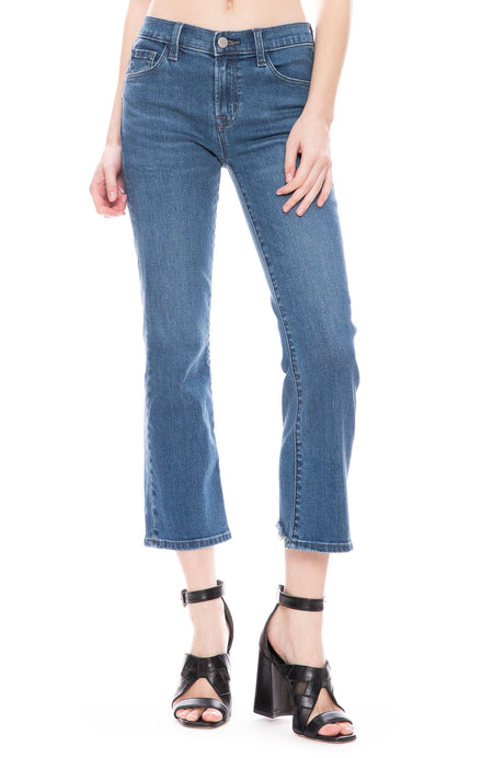 Selena Mid-Rise Cropped Boot Cut In Polaris Destruct