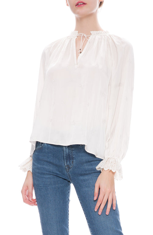 Ulla Johnson Irene Blouse in White at Ron Herman