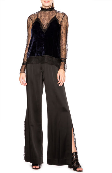 Jonathan Simkhai Lingerie Satin Track Pants at Ron Herman