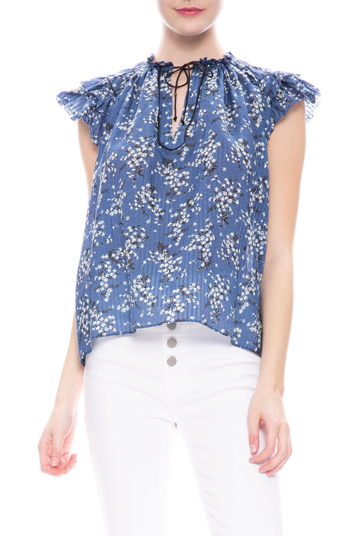 Ulla Johnson Ida Top in Cornflower at Ron Herman