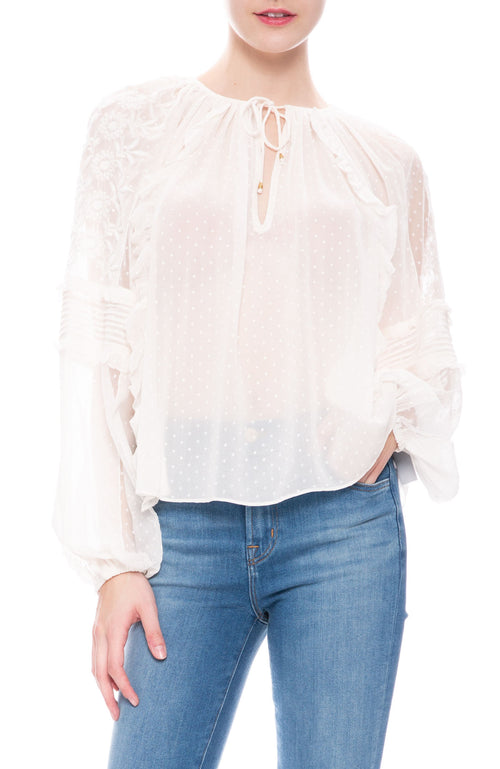 Ulla Johnson Audrey Blouse at Ron Herman