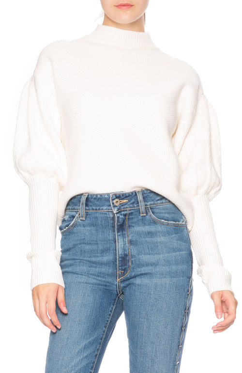 Jonathan Simkhai Tassel Knit Sweater in Ivory at Ron Herman