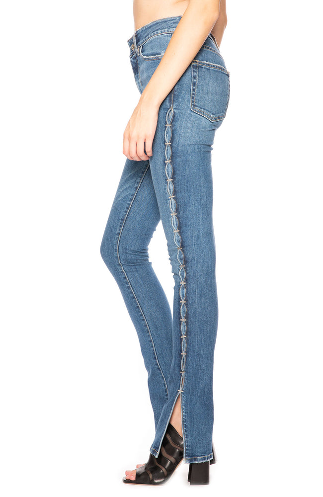 Jonathan Simkhai Denim Stove Pipe Jeans at Ron Herman